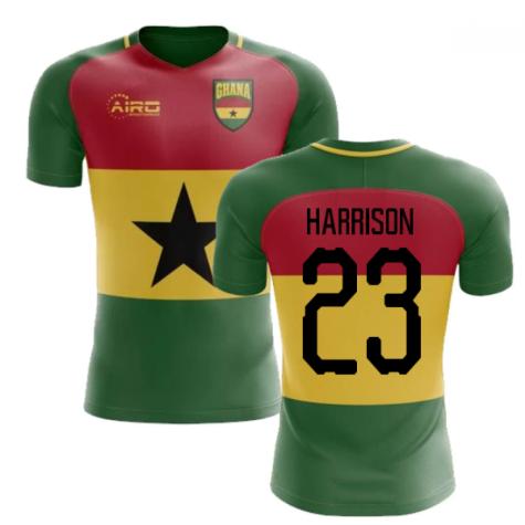 2019-2020 Ghana Flag Concept Football Shirt (Harrison 23)