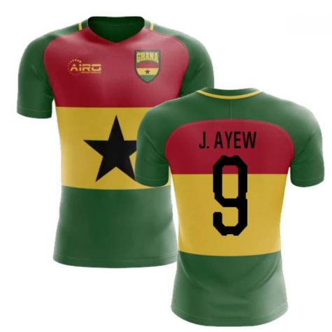 2019-2020 Ghana Flag Concept Football Shirt (J. Ayew 9)