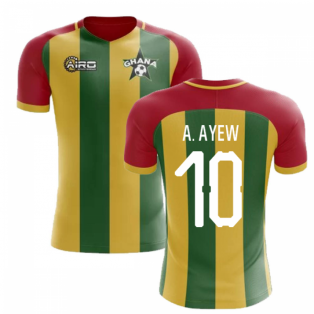 2019-2020 Ghana Home Concept Football Shirt (A. Ayew 10)