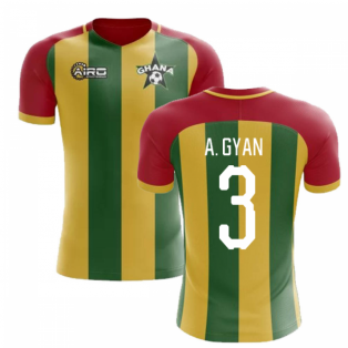 2019-2020 Ghana Home Concept Football Shirt (A. Gyan 3)