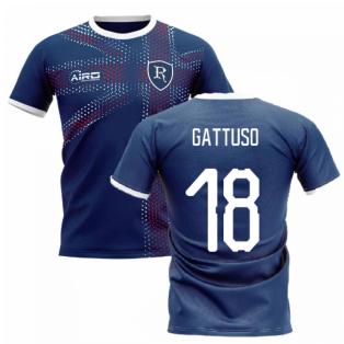 2020-2021 Glasgow Home Concept Football Shirt (GATTUSO 18)