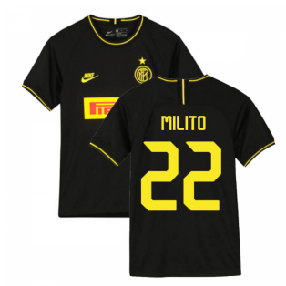 2019-2020 Inter Milan 3rd Nike Football Shirt (Kids) (MILITO 22)
