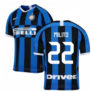 2019-2020 Inter Milan Authentic Vapor Match Home Nike Shirt (MILITO 22)