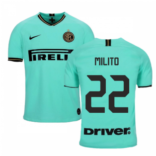 2019-2020 Inter Milan Away Nike Football Shirt (Kids) (MILITO 22)
