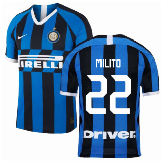 2019-2020 Inter Milan Home Nike Football Shirt (MILITO 22)