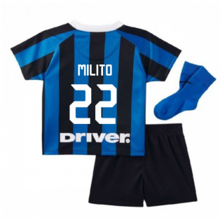 2019-2020 Inter Milan Home Nike Infants Kit (MILITO 22)