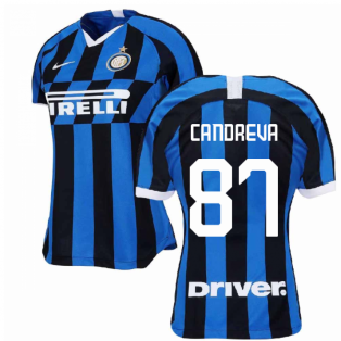 2019-2020 Inter Milan Home Nike Womens Football Shirt (CANDREVA 87)