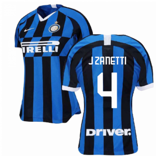 2019-2020 Inter Milan Home Nike Womens Football Shirt (J ZANETTI 4)