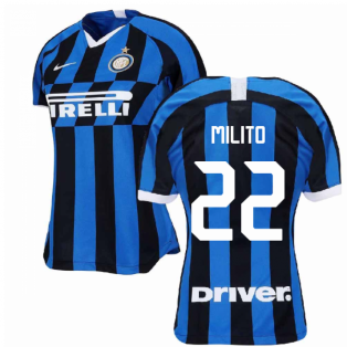 2019-2020 Inter Milan Home Nike Womens Football Shirt (MILITO 22)