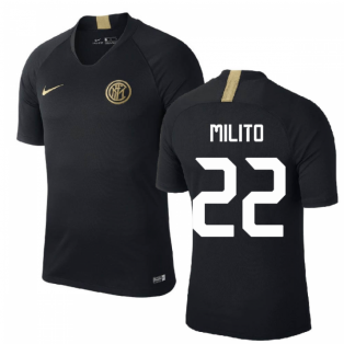 2019-2020 Inter Milan Nike Training Shirt (Black) (MILITO 22)