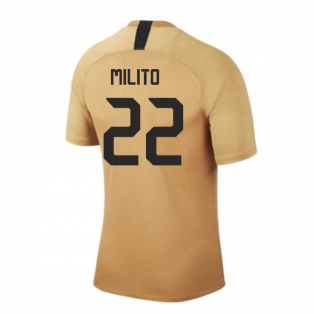 2019-2020 Inter Milan Nike Training Shirt (Bronze) (MILITO 22)