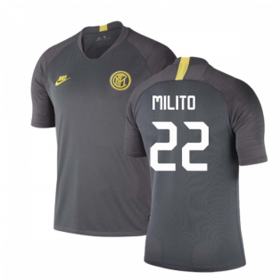 2019-2020 Inter Milan Nike Training Shirt (Grey) (MILITO 22)