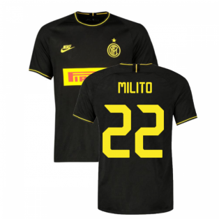 2019-2020 Inter Milan Third Nike Football Shirt (MILITO 22)