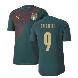 2019-2020 Italy Puma Stadium Jersey (Pine) (Balotelli 9)