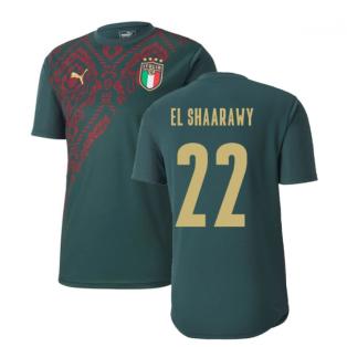 2019-2020 Italy Puma Stadium Jersey (Pine) (El Shaarawy 22)