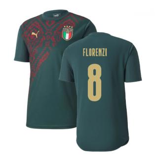 2019-2020 Italy Puma Stadium Jersey (Pine) (Florenzi 8)