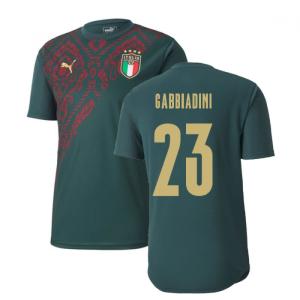 2019-2020 Italy Puma Stadium Jersey (Pine) (Gabbiadini 23)