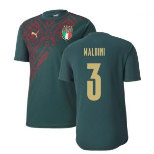 2019-2020 Italy Puma Stadium Jersey (Pine) (Maldini 3)