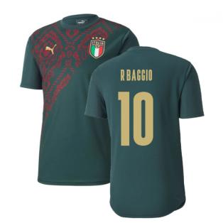 2019-2020 Italy Puma Stadium Jersey (Pine) (R.Baggio 10)