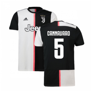 2019-2020 Juventus Adidas Home Football Shirt (Cannavaro 5)