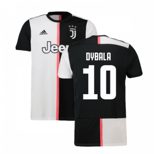2019-2020 Juventus Adidas Home Football Shirt (Dybala 10)