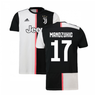 2019-2020 Juventus Adidas Home Football Shirt (Mandzukic 17)