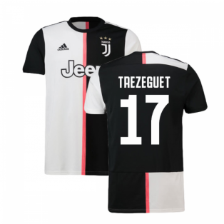 2019-2020 Juventus Adidas Home Football Shirt (Trezeguet 17)