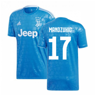 2019-2020 Juventus Adidas Third Football Shirt (Mandzukic 17)