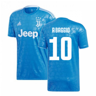 2019-2020 Juventus Adidas Third Football Shirt (R.Baggio 10)