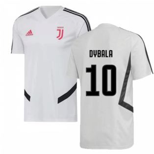 2019-2020 Juventus Adidas Training Shirt (White) (Dybala 10)