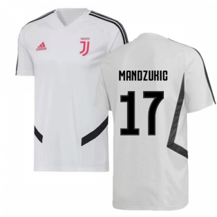 2019-2020 Juventus Adidas Training Shirt (White) (Mandzukic 17)