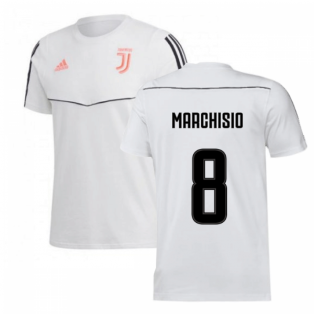 2019-2020 Juventus Adidas Training Tee (White) (Marchisio 8)