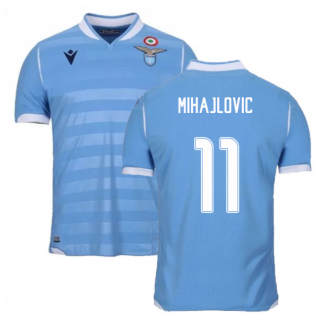 2019-2020 Lazio Authentic Home Match Shirt (MIHAJLOVIC 11)