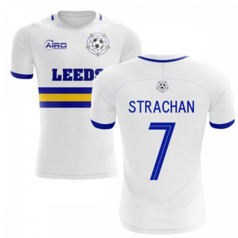 2020-2021 Leeds Home Concept Football Shirt (STRACHAN 7)