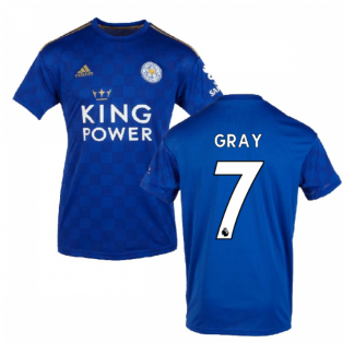 2019-2020 Leicester City Home Football Shirt (GRAY 7)