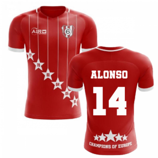2019-2020 Liverpool 6 Time Champions Concept Football Shirt (Alonso 14)