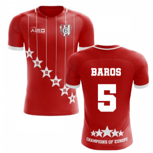 2020-2021 Liverpool 6 Time Champions Concept Football Shirt (Baros 5)