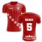 2020-2021 Liverpool 6 Time Champions Concept Football Shirt (Baros 5)