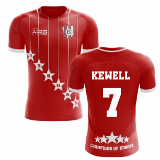 2020-2021 Liverpool 6 Time Champions Concept Football Shirt (Kewell 7)
