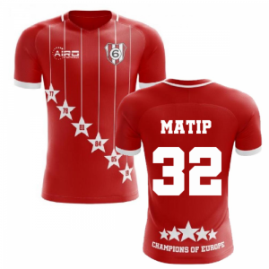 2020-2021 Liverpool 6 Time Champions Concept Football Shirt (Matip 32)