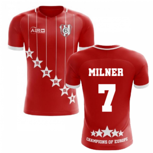 2020-2021 Liverpool 6 Time Champions Concept Football Shirt (Milner 7)
