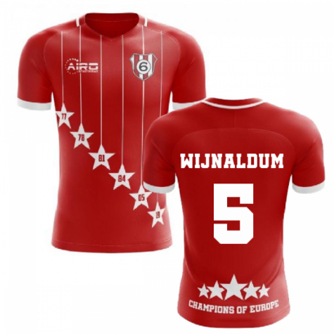 2020-2021 Liverpool 6 Time Champions Concept Football Shirt (Wijnaldum 5)