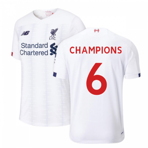 2019-2020 Liverpool Away Football Shirt (Champions 6)