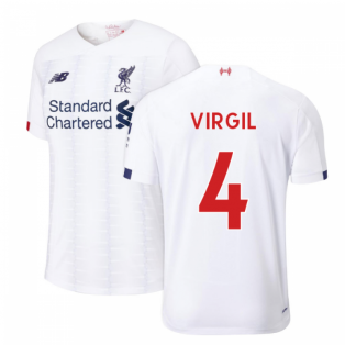 2019-2020 Liverpool Away Football Shirt (Kids) (Virgil 4)