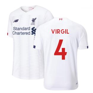 2019-2020 Liverpool Away Football Shirt (Virgil 4)
