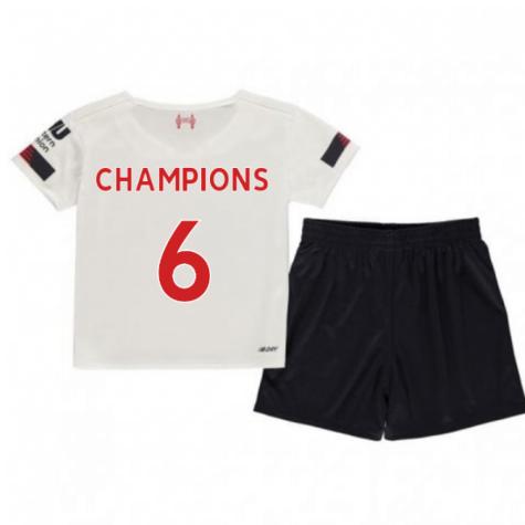 2019-2020 Liverpool Away Little Boys Mini Kit (Champions 6)