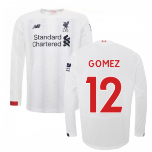 2019-2020 Liverpool Away Long Sleeve Shirt (Gomez 12)
