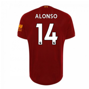 2019-2020 Liverpool Home Football Shirt (ALONSO 14) - Kids