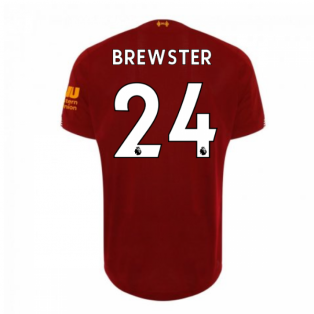 2019-2020 Liverpool Home Football Shirt (Brewster 24) - Kids