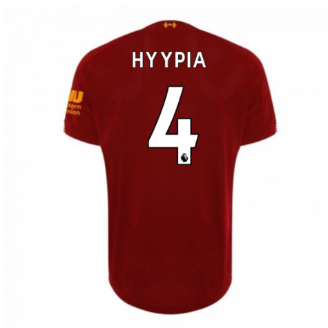 2019-2020 Liverpool Home Football Shirt (HYYPIA 4) - Kids